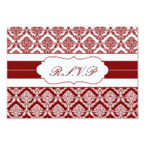 red damask   rsvp standard 3.5 x 5 card