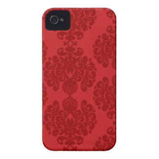 Red damask stylish pattern blackberry bold case