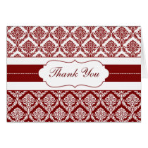 red damask ThankYou Cards