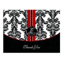 red damask ThankYou Cards