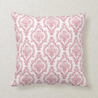 Red Damask Throw Pillow