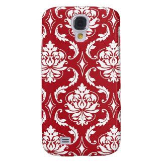 Red Damask Vintage Pattern Galaxy S4 Case