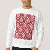 Red Damask Vintage Pattern Sweatshirt