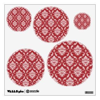 Red Damask Vintage Pattern Wall Sticker