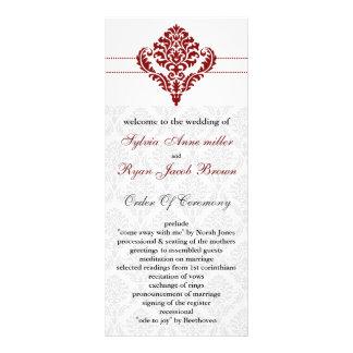 red damask Wedding program