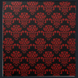 "Red damsk on black napkin<br><div class=""desc"">A kitchen or dinning room Napkin with red damask on black,  don&#39;t like the black change it to a white background.</div>"