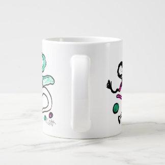 Red dances with green I Large Coffee Mug