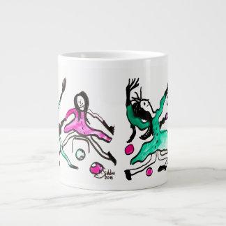 Red dances with green III Giant Coffee Mug