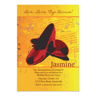 Red Dancing Shoes Invitation
