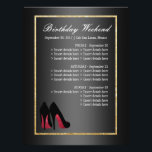 """Red Dancing Shoes Itinerary - Birthday Flyer<br><div class=""""desc"""">If you need custom colors or assistance in creating your design,  feel free to contact me at zazzlepartydepot@gmail.com. I look forward to hearing from you!</div>"""