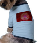 Red Dandelion Extrusion Dog T-shirt