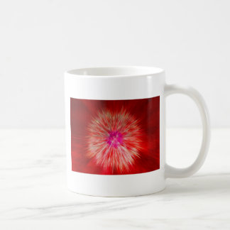 Red Dandelion Extrusion Classic White Coffee Mug
