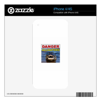 red danger gator tag iPhone 4S decal