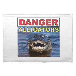 red danger gator tag placemat