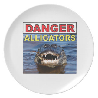 red danger gator tag plate