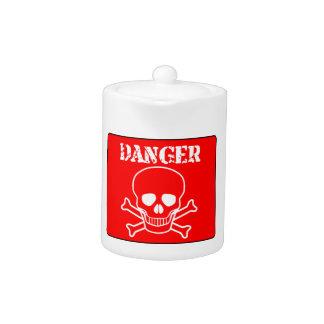 Red Danger Sign Teapot