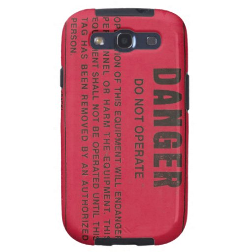 Red Danger Tag Galaxy SIII Covers