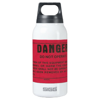 Red Danger Tag Insulated Water Bottle