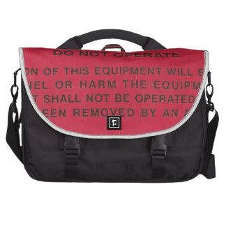 Red Danger Tag Laptop Messenger Bag