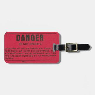 Red Danger Tag Travel Bag Tag