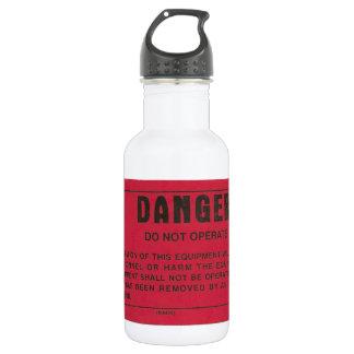 Red Danger Tag Water Bottle