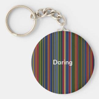 RED Daring  Key holder by Orena T-M Basic Round Button Keychain