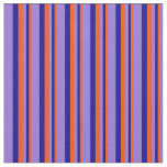 [ Thumbnail: Red, Dark Blue, and Purple Stripes Fabric ]