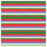 [ Thumbnail: Red, Dark Green, Light Green, White & Slate Blue Fabric ]
