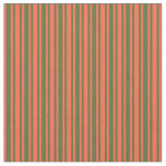 [ Thumbnail: Red & Dark Olive Green Striped/Lined Pattern Fabric ]