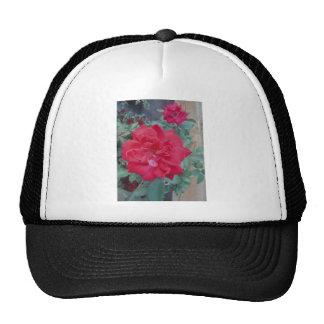 Red dark pink Rose Trucker Hat