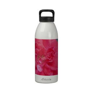 Red dark pink Rose Water Bottle