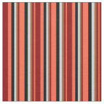[ Thumbnail: Red, Dark Red, Sienna, Light Gray & Black Colored Fabric ]