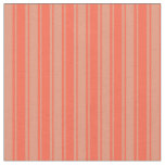[ Thumbnail: Red & Dark Salmon Colored Lines/Stripes Pattern Fabric ]