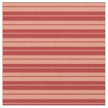 [ Thumbnail: Red & Dark Salmon Pattern of Stripes Fabric ]