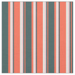 [ Thumbnail: Red, Dark Slate Gray, Pink, and White Pattern Fabric ]