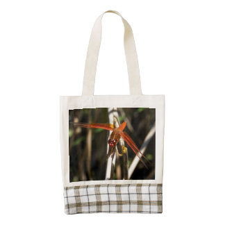 Red Darner Dragonfly Zazzle HEART Tote Bag