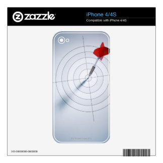 Red Dart iPhone 4 Skin