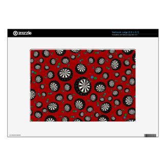 Red dartboard pattern large netbook skins