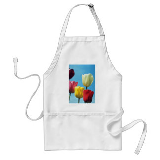 Red Darwin Tulips flowers Adult Apron