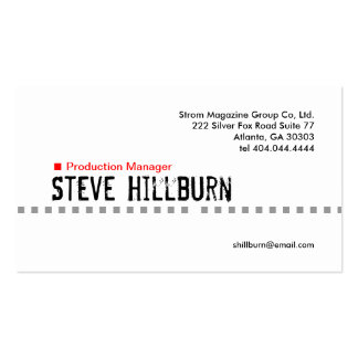 Red Dash Business Card 4