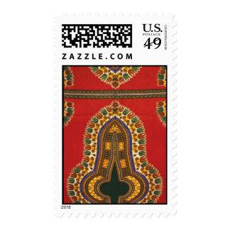 Red Dashiki print stamp