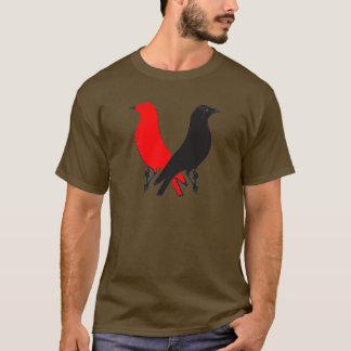 Red Daw Jack Daw Pop Art T-Shirt (large logo)