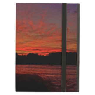 Red Dawn Lighthouse iPad Air Covers