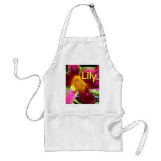 """""""Red Day Lily"""" Apron"""