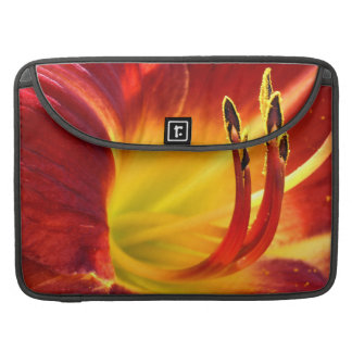 Red Day Lily MacBook Pro Sleeve