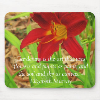 Red Day Lily Mousepad