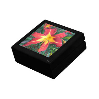 Red Day Lily Trinket Box