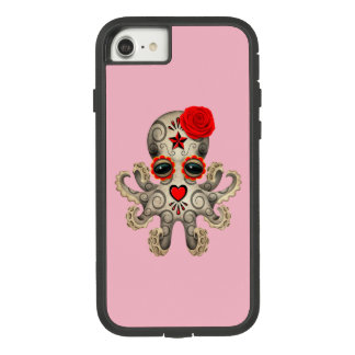 Red Day of the Dead Baby Octopus Case-Mate Tough Extreme iPhone 7 Case