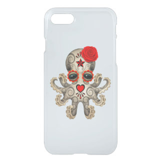 Red Day of the Dead Baby Octopus iPhone 7 Case