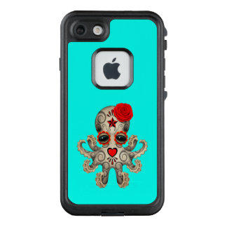 Red Day of the Dead Baby Octopus LifeProof FRĒ iPhone 7 Case